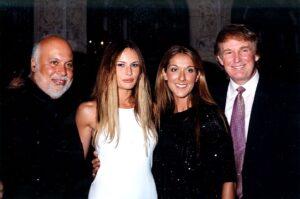 René Angélil, Mélania Trump, Céline Dion, Donald Trump (Photo by Davidoff Studios/Getty Images)