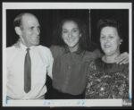 Adhémar Dion, Céline Dion, Thérèse Dion (Source: Bibliothèque et Archives nationales du Québec, Céline Dion, 1981-1998, BAnQ Vieux-Montréal, Fonds La Presse, (06M,P833,S2,D1619), Robert Mailloux)