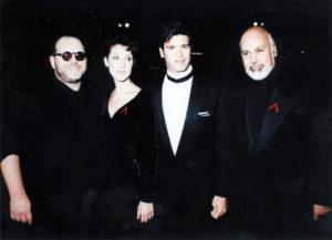 Paul Vincent (Roch Voisine's manager), Céline Dion, Roch Voisine, René Angélil (© ADISQ)