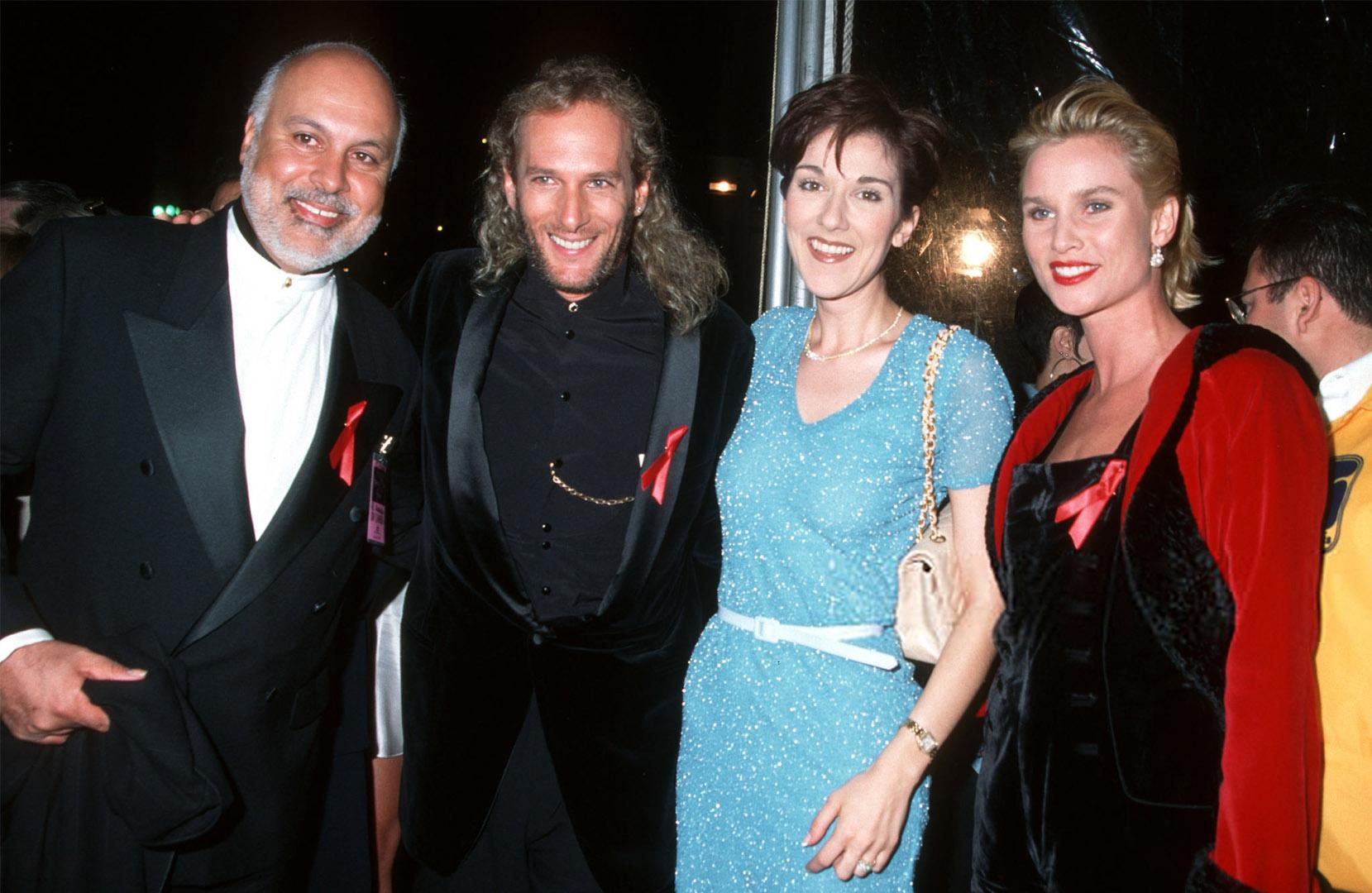 René Angélil, Michael Bolton, Céline Dion, Nicollette Sheridan (Photo by Jim Smeal/Ron Galella Collection via Getty Images)