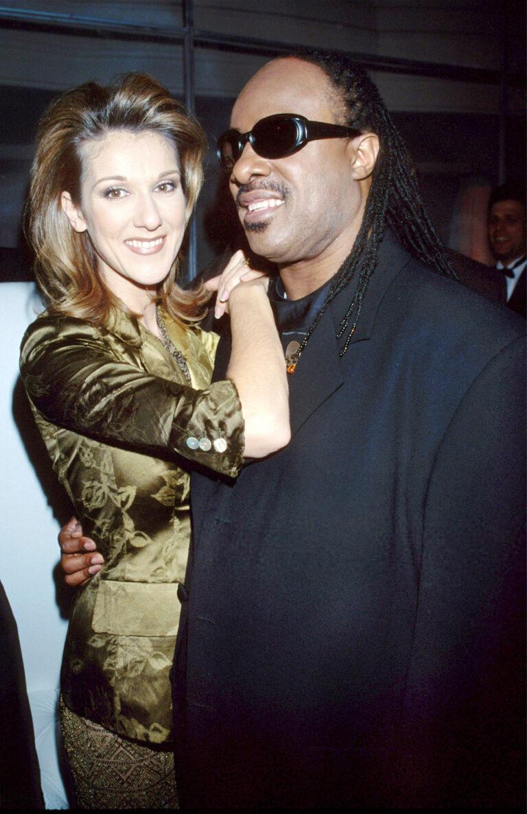 Céline Dion & Stevie Wonder (© Kevin Mazur/WireImage.com)