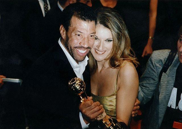 Lionel Richie, Céline Dion (© Laszlo Veres / CORBIS)