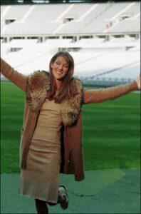 FRANCE – NOVEMBER 16: Celine Dion At Stadium of France in Saint-Denis, France on November 16, 1998. (Photo by Alain BENAINOUS/Gamma-Rapho via Getty Images)
