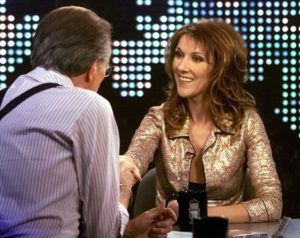 Larry King, Céline Dion (© Sipa)