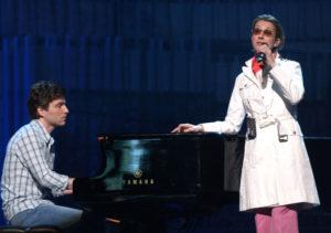 Céline Dion & Richard Marx during the rehearsals (© WireImage.com/RDiamond)