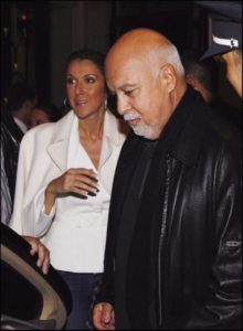 Céline Dion, her husband Rene Angelil leaving the Hotel George V. (© LEBON/GAMMA)