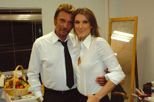 Céline Dion & Johnny Hallyday (© D. Angeli)