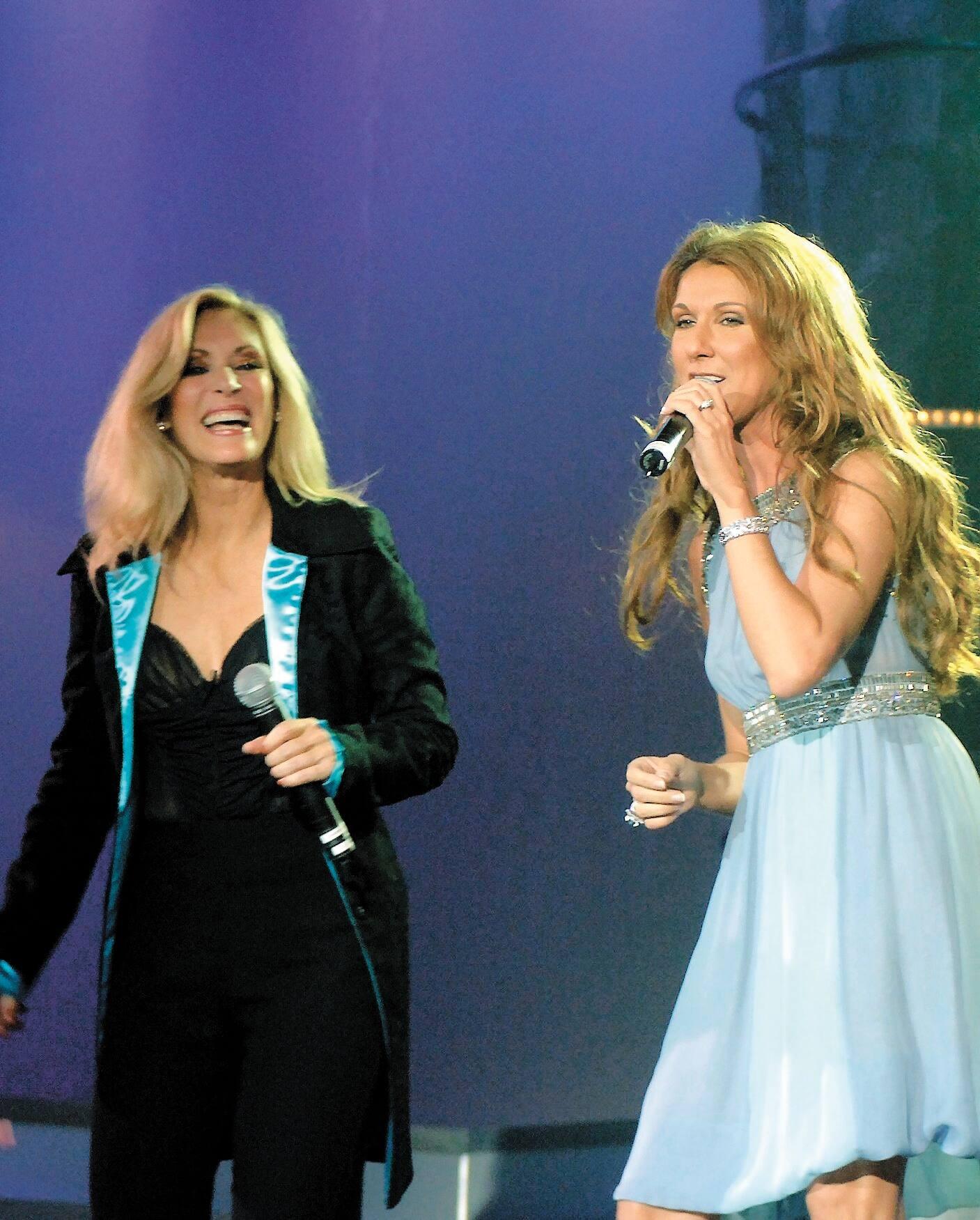 Céline Dion & Nanette Workman (© Journal de Montréal)