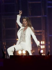 Céline Dion performs during the Charitable Foundation's 10th Grand Slam for Children. (© AP Photo/Jae C. Hong)