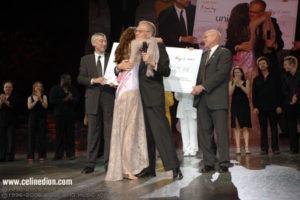 David Agnew, Céline Dion, Larry King & Charles J. Lyons (© Denise Truscello)