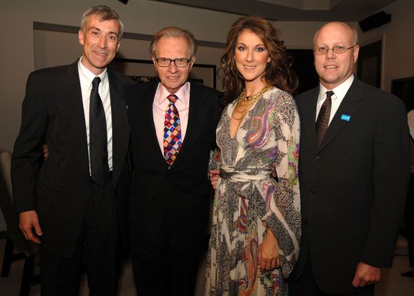 David Agnew, Larry King, Céline Dion and Charles J. Lyons (© Denise Truscello)