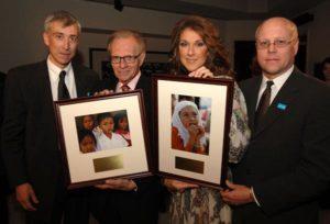 David Agnew, Larry King, Céline Dion & Charles J. Lyons (© Denise Truscello)
