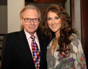 Larry King & Céline Dion (© Denise Truscello)