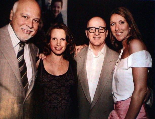 Rene Angelil, Heidi Hollinger, Claude J. Charron & Céline Dion (© La Semaine)