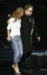 Céline Dion, Elton John (© AP Photo/Jae C. Hong)