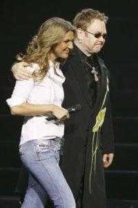 Céline Dion, Elton John (© Photo by Ethan Miller/Getty Images)
