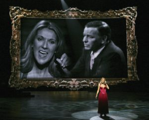 Céline Dion gives a tribute to Frank Sinatra during her 500th show in Las Vegas. (© Ethan Miller/Getty Images Entertainment)