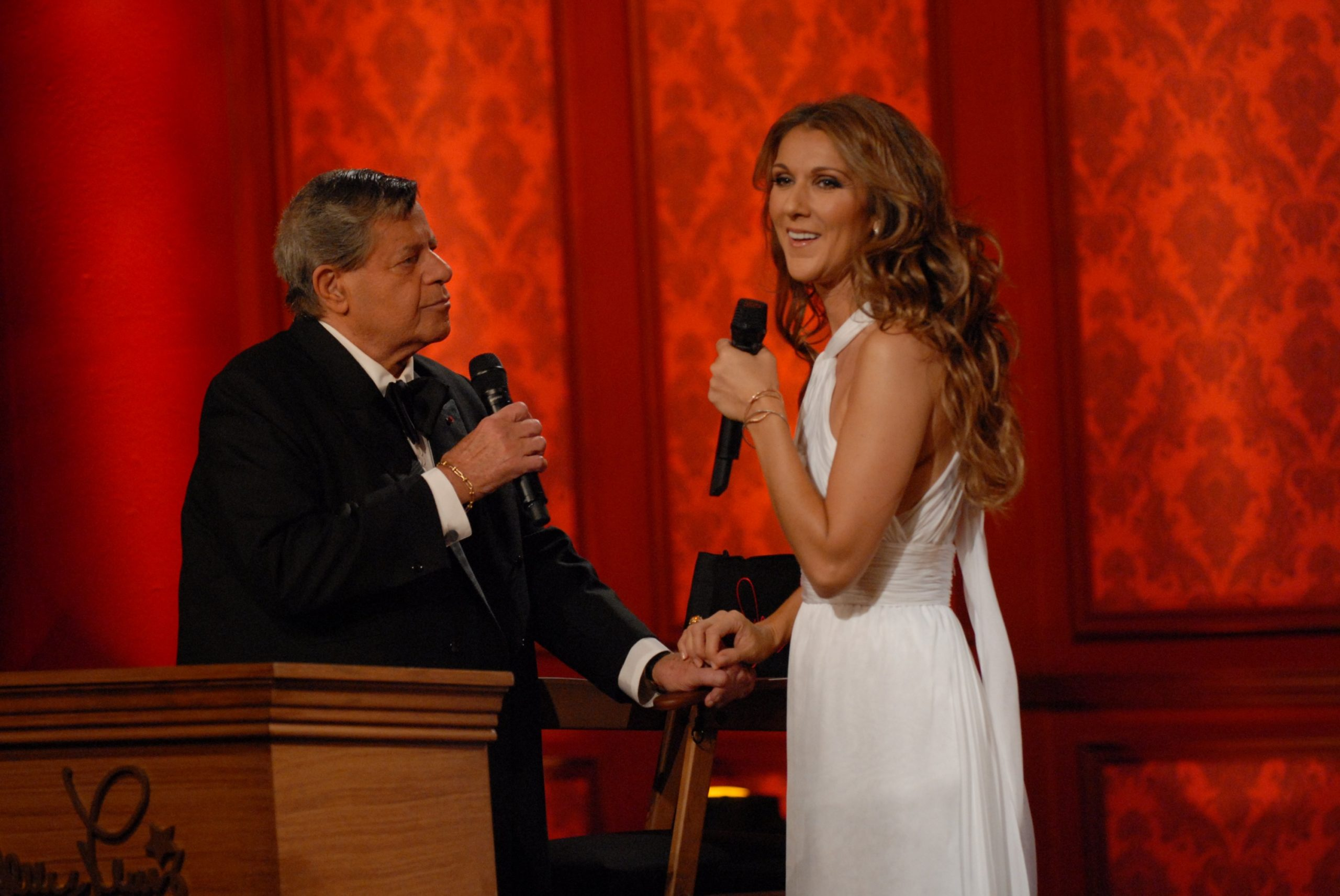 Céline Dion & Jerry Lewis (© Ethan Miller/Getty Images)
