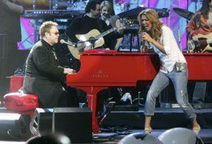 Elton John, Céline Dion (© Photo by Ethan Miller/Getty Images)