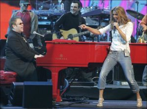 Elton John, Céline Dion (© AP Photo/Jae C. Hong)