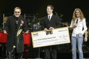 Elton John, Jerry Seinfeld, Céline Dion (© AP Photo/Jae C. Hong)