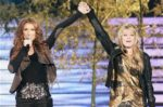 Céline Dion, Alexia Melotto (© NILS HD / TF1)