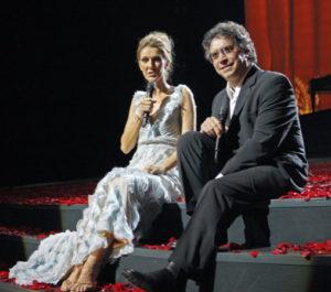 Céline Dion, Franco Dragone (© Jane Kalinowsky/Review-Journal)