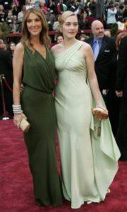 Céline Dion, Kate Winslet (© AP Photo/Reed Saxon)