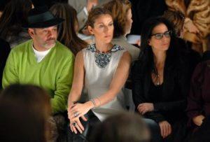 Christian Louboutin, Céline Dion, Annie Horth (© Rob Loud/Getty Images)
