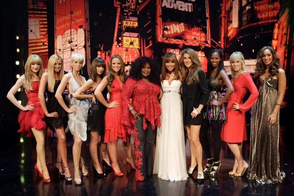 Girls Aloud (Nicola Roberts, Nadine Coyle, Sarah Harding, Cheryl Cole, Kimberley Walsh), Chaka Khan, Myleene Klass, Céline Dion, Jamelia, Natasha Bedingfield, Leona Lewis