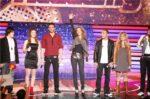 Jérémy Chapron, Claudia Atkinson, Pierre Yanko, Céline Dion, Señor Azzad, Alexia Melotto, Bertrand Agot (© NILS HD / TF1)