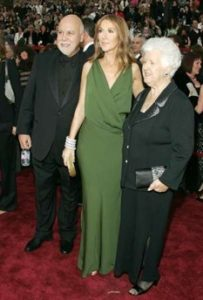 Rene Angelil, Céline Dion, Therese Dion (© REUTERS/Lucy Nicholson)