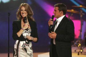 Céline Dion, Benjamin Castaldi (© Jean-Marc Sureau/TF1)