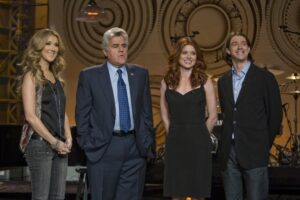 Céline Dion, Jay Leno, Debra Messing, Cody Willard (© Associated Press)