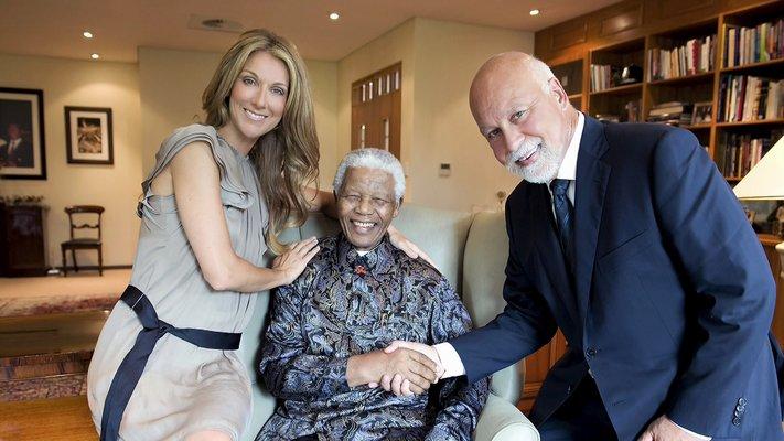 Céline Dion, Nelson Mandela, René Angélil (© Gérard Schachmes)
