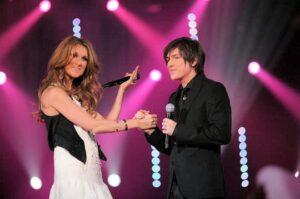 Céline Dion, Quentin Mosimann (© NILS HD / TF1)