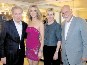 Jean Charest, Céline Dion, Michèle Charest, René Angélil (© Le Journal de Montréal)
