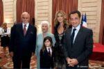 René Angélil, Thérèse Dion, René-Charles, Céline Dion, Nicolas Sarkozy (© Gérard Schachmes)