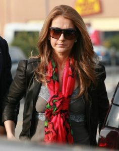 Céline Dion arriving at the Jim Henson Studios to do a 'We Are The World' recording for the Haiti earthquake victims in Hollywood, CA. (© FlynetPictures.com)