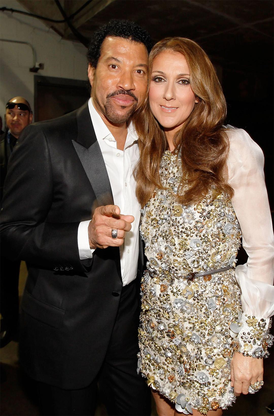 Céline Dion, Lionel Richie (© Christopher Polk/Getty Images North America)