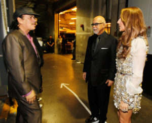 Céline Dion, René Angélil, Carlos Santana (© Christopher Polk/Getty Images North America)
