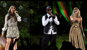 Céline Dion, Usher, Carrie Underwood (© Kevin Winter/Getty Images North America)