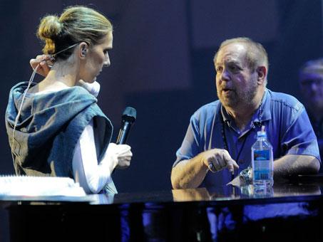 Céline Dion, Ken Ehrlich (© Robert Hanashiro, USA TODAY)