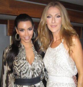 Kim Kardashian, Céline Dion (© Kim Kardashian)