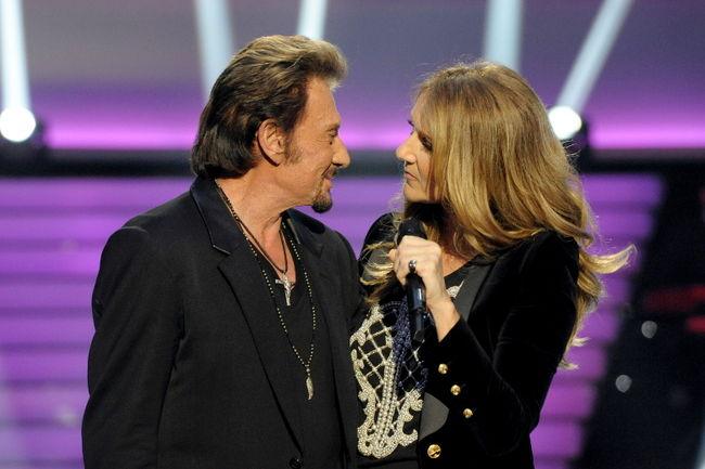Céline Dion, Johnny Hallyday (© Photo Collaboration spéciale, Marc CHAUMEIL)