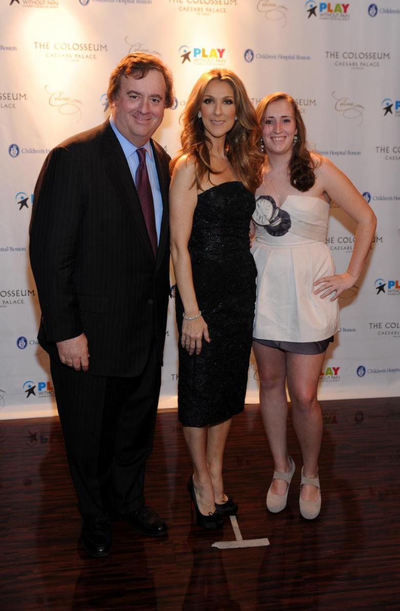 Céline Dion with Gary Loveman, Chairman, President and CEO of Caesars Entertainment (© Denise Truscello)