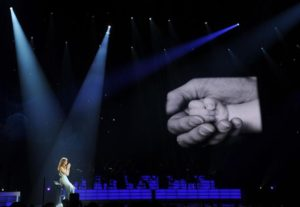 """Celine Performing On Stage at """"Play Without Pain"""" Benefit (© Denise Truscello)"""