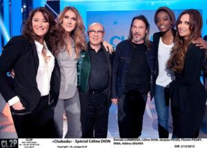 Chabada: Daniela Lumbroso, Céline Dion, Jacques Pessis, Florent Pagny, Irma Pany, Hélène Ségara in 'Chabada' (© Ch. Lartige/CL2P)