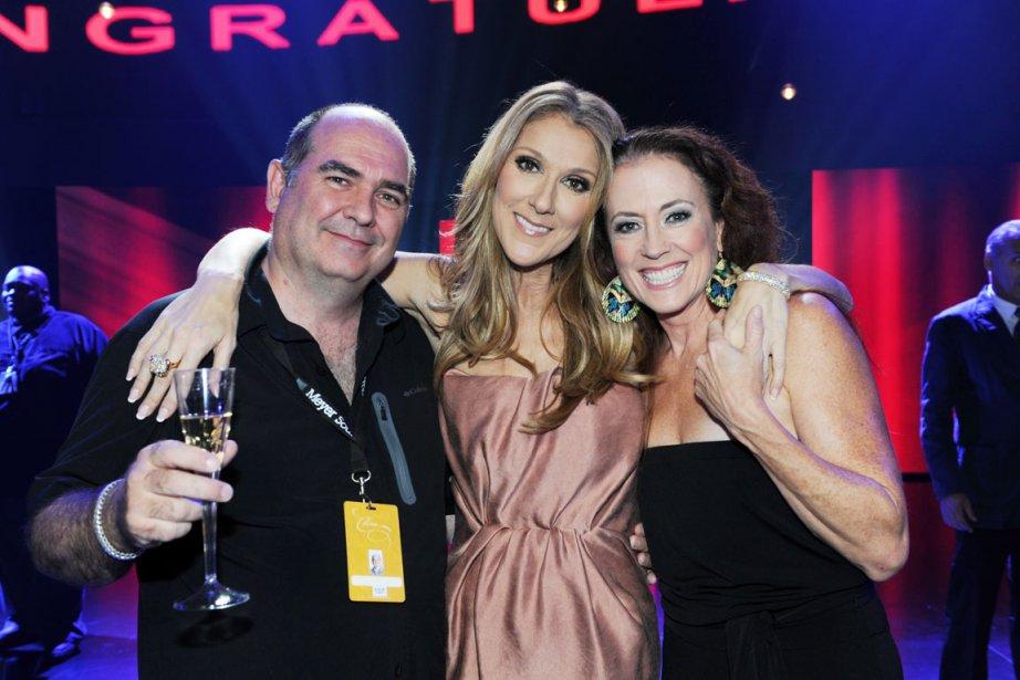 Denis Savage, Céline Dion, Elise Duguay (© Denise Truscello)