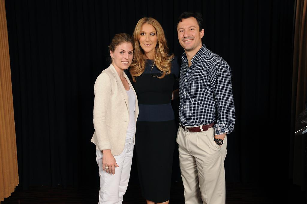 Julia Bary, Céline Dion, Francisco Garcia (© FS George V Paris)